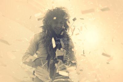 Wayne Coyne, The Flaming Lips, New Years Eve Freakout 5, Dec.31,2011, Oklahoma City,Oklahoma.