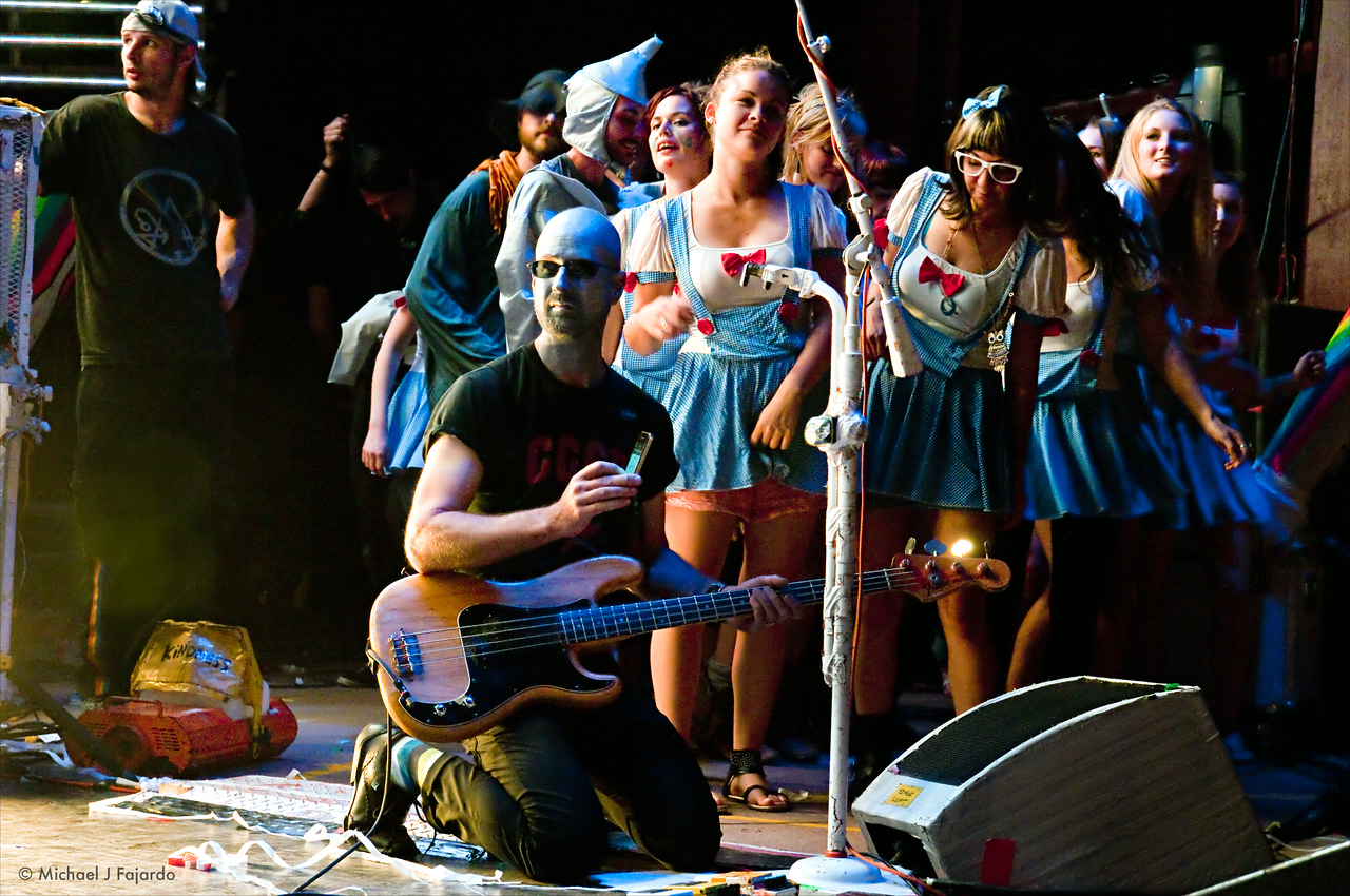 """Michael Ivins and his Dorothys The Flaming Lips Performing Pink Floyd's """"The Dark Side of the Moon"""" Red Rocks Amphitheater Morrison, CO August 4, 2011"""