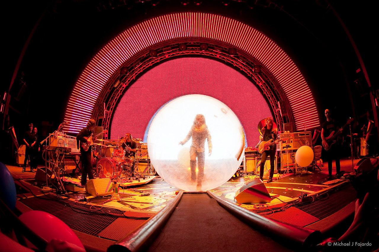 """Wayne Coyne in his Space Bubble The Flaming Lips Performing Pink Floyd's """"The Dark Side of the Moonn"""" Red Rocks Amphitheater Morrison, CO  August 4, 2011"""
