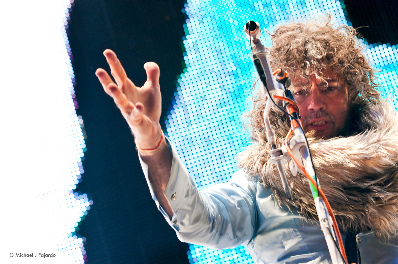 """Wayne Coyne The Flaming Lips Performing Pink Floyd's """"The Dark Side of the Moon"""" Red Rocks Amphitheater Morrison, CO August 4, 2011"""