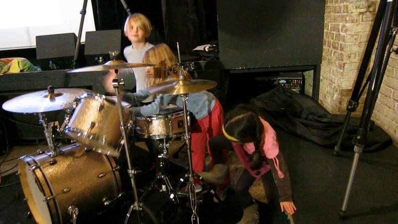 20160208 (2103) Flash Chorus - children drumming 1 of 2