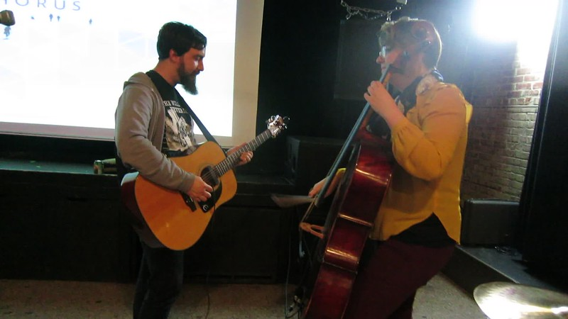 20170424 (2018) Flash Chorus 06 of 12 - Kaitlin and Dave in break jamming 'Home' by E Sharpe and Mag Zeros
