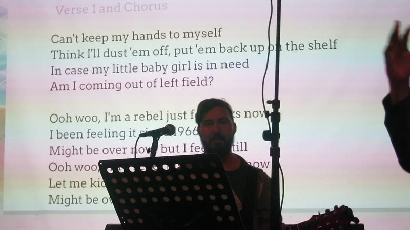 20171023 (1946) Flash Chorus 01 of 17 - working on 'Feel it Still' {clip by DBarman}