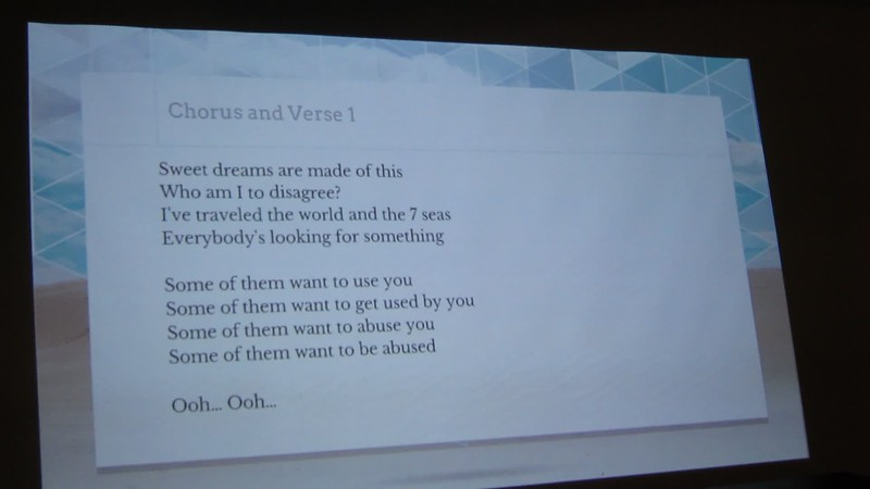 20180122 (2052) Flash Chorus 10 of 14 - starting to work on 'Sweet Dreams' (Eurythmics)