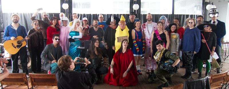 00aFavorite 20171028 (1426) Flash Chorus - The Durham hotel rooftop - costumed attendees {by DBarman}