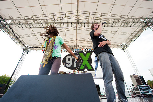 Flobots perform on May 29, 2010 at 97X Backyard BBQ at Vinoy Park in St. Petersburg, Florida
