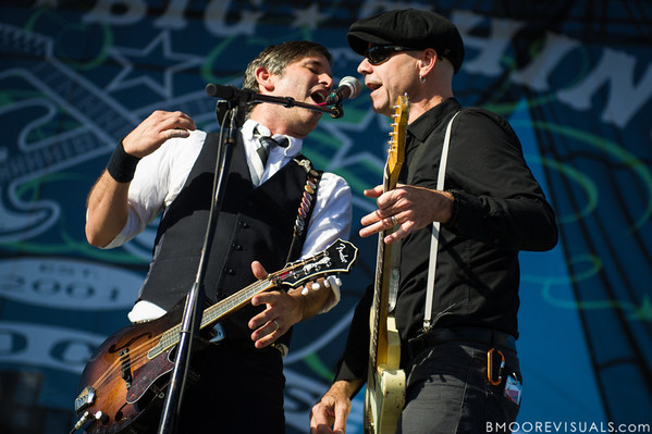 Bob Schmidt and Dennis Casey of Flogging Molly perform on December 1, 2012 during 97X Next Big Thing at Vinoy Park in St. Petersburg, Florida