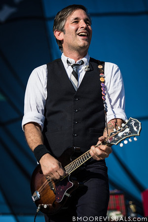 Bob Schmidt of Flogging Molly performs on December 1, 2012 during 97X Next Big Thing at Vinoy Park in St. Petersburg, Florida