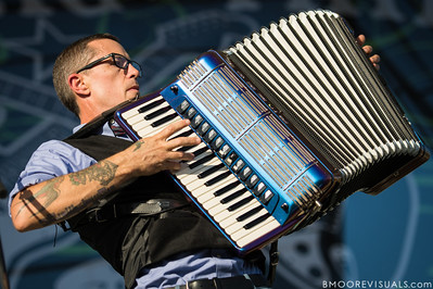 Matt Hensley of Flogging Molly performs on December 1, 2012 during 97X Next Big Thing at Vinoy Park in St. Petersburg, Florida