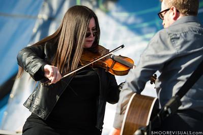 Bridget Regan and Dave King of Flogging Molly perform on December 1, 2012 during 97X Next Big Thing at Vinoy Park in St. Petersburg, Florida