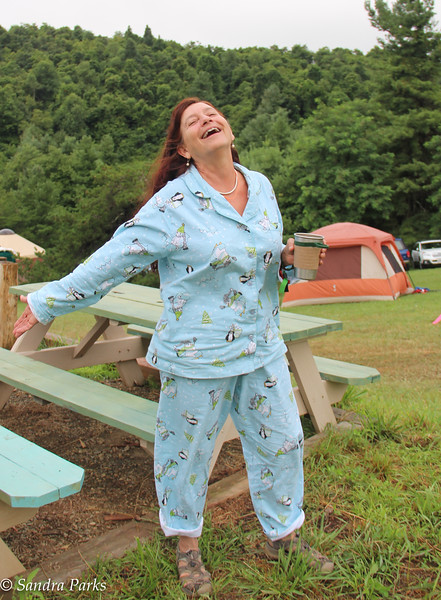Jody  rocking the PJs in the morning