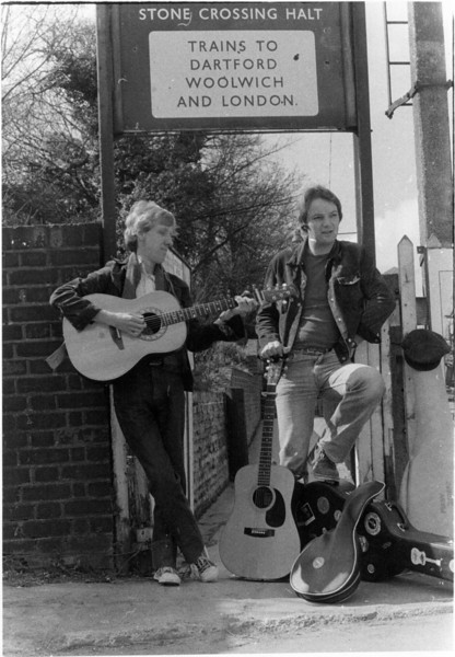 1980 publicity photo with Merv Sterry - we were a folk duo called Tall Story, and did 100's of gigs until 1982/3