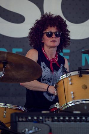 Hannah Dasher on the WFPK Port Stage at Forecastle Festival 2019. Photo by Tony Vasquez