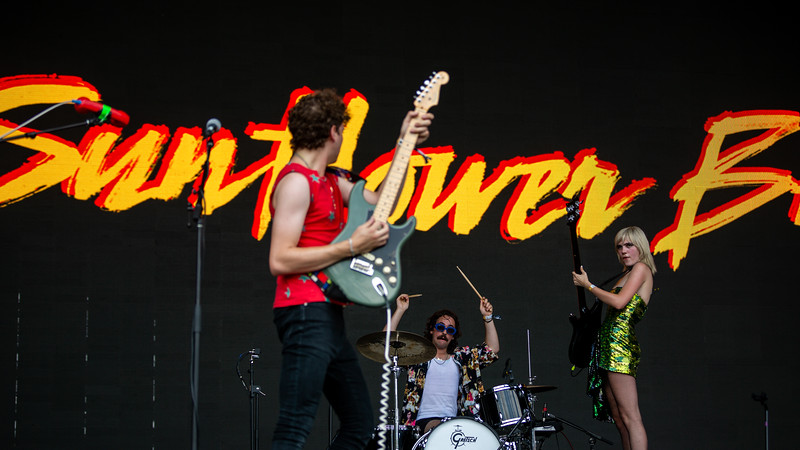 Sunflower Bean on the Mast Stage at Forecastle Festival 2019. Photo by Tony Vasquez
