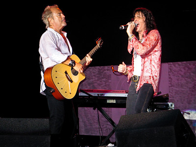 Mick Jones, and Kelly Hansen of Foreigner on August 19, 2006 at Great Adventure in New Jersey.