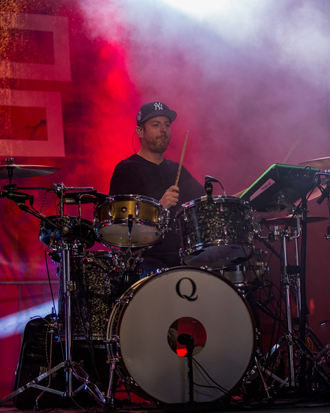 October 7, 2017 Day Two with Phantogram at Fountain Square Music Festival. Shot by Tony Vasquez for Jams Plus Media.