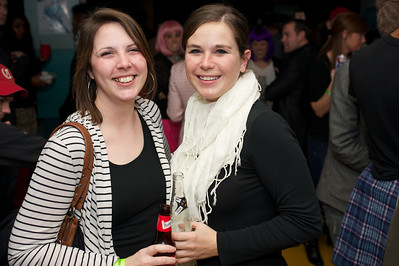 Megan from Indianapolis and Andrea from Cincinnati for Foxy Shazam Saturday night at the Madison Theater