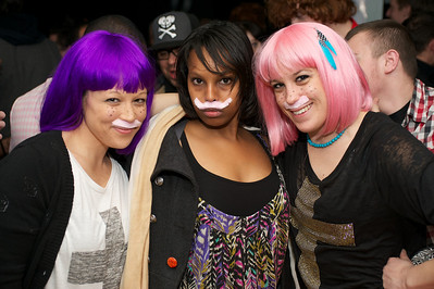 Heather Sakai, Deqah Hussein and Jessi Paul from Cleveland for Foxy Shazam Saturday night at the Madison Theater