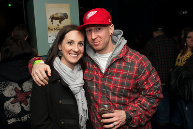 Leah and Greg Wyrabkiewicz of Cincinnat at the Madison Theater Saturday night to see Foxy Shazam