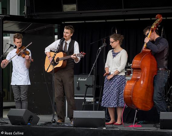 Frank Burkitt Band at Tennyson Street 2014