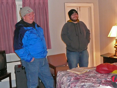 Dan and Hank, inspecting our deluxe accommodations.