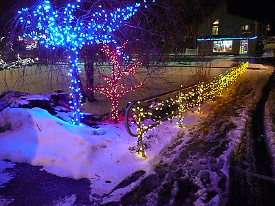 One of the best reasons to go to Port Dover:  the Christmas lights.