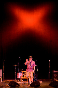 Ray Massucco kicks off Fred X at the Bellows Falls Opera House. Lighting design by Thomasena Coates.