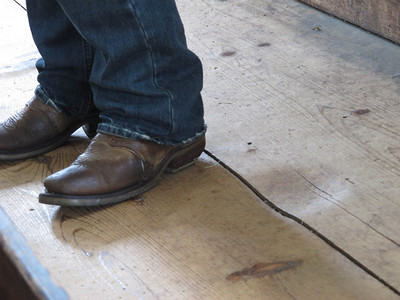 Very large dent in the meeting house floor....from what, and when?