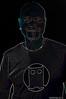 Freddy Clarke in glowing lines - Freddy Clarke & Wobbly World at YOSHI's - San Francisco