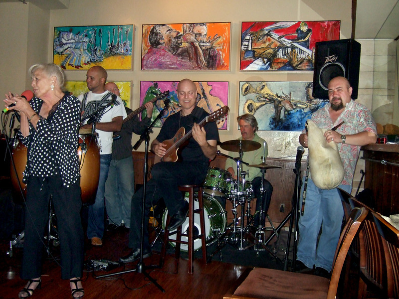 Freddy Clarke's Wobbly World at the Oak City Bar, Menlo Park, CA - July 9, 2010<br /> Freddy's mother singing