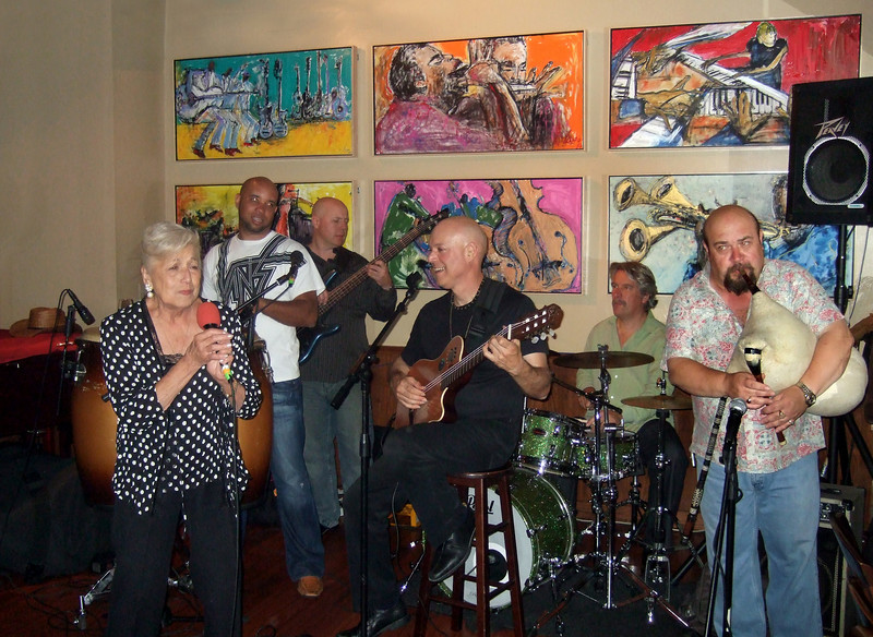 Freddy Clarke's Wobbly World at the Oak City Bar, Menlo Park, CA - July 9, 2010<br /> Freddy's mother singing