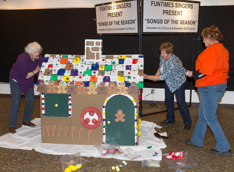Fun Times Singers create their own decorations for each season - here's how to make a giant gingerbread house.