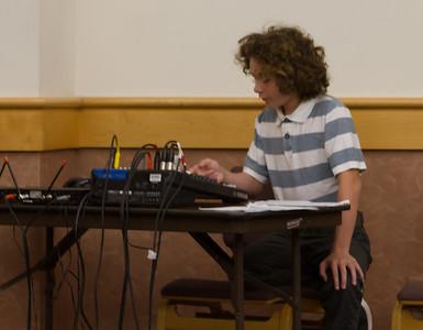 Jayden Stahl, at the sound mixer board