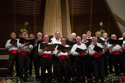 "The men singing ""African Noel""."
