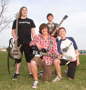 Funky Luv (from left) Nick Olson, Zach Schweitzer, D.J. Johnson, and Jake Schweitzer.