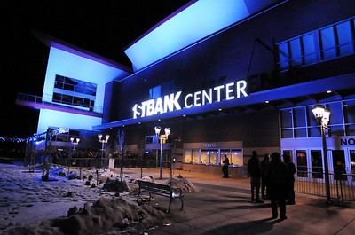1stBank Center lit up for the opening night concert by Furthur on Friday.  March 5, 2010 Staff photo/David R. Jennings