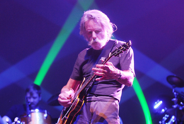 Furthur's Bob Weir  playing at  the opening night at the 1stBank Center on Friday.<br /> <br /> March 5, 2010<br /> Staff photo/David R. Jennings