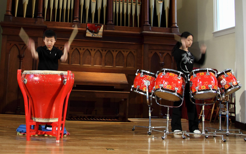 Audrey Zhu (朱同羽), percussion Evan Wu (吳維皓), percussion