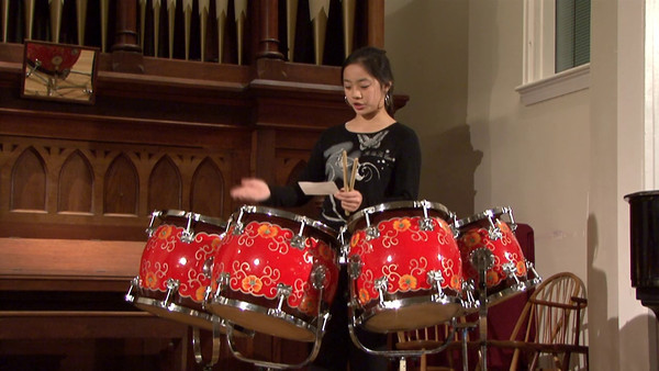 Chinese Percussion Music Traditional, arr. Zhentian Zhang Audrey Zhu, pai-gu Wu, dai-gu  中國鼓段   傳統、張鎮田 改編 朱同羽 排鼓 吳維皓 大鼓
