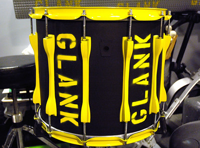custom paint on marching snare       -