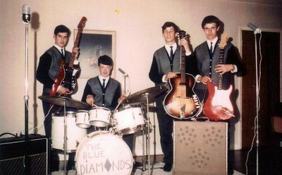 2 of 11  band nameThe Blue Diamonds   submitted by Neil Burman  who's in the picture Left to right: Neil Burman, bass; John Woolley, drums; Iain Eggeling, rhythm guitar and lead vocals; David Jackson, lead guitar.