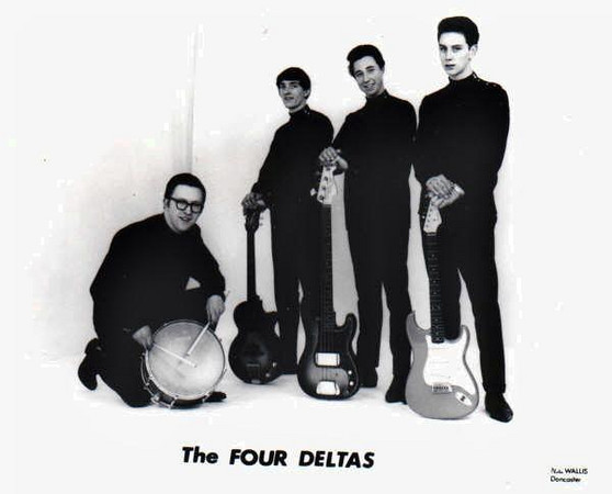 "<font color=red><font size=3>band name<br> <font color=white>The Four Deltas<br> <br><font size=2> <font color=red>submitted by<br> <font color=white>John Parkes <img src=""http://oldwildmen.smugmug.com/photos/184096876-Th-1.jpg"" style=""float:right;border:20;margin:20px""> <font color=red><br> who's in the picture<br> <font color=white>John Parkes, lead guitar; Mick Ivinson, rhythm guitar; Jeff Clennell, bass; Terry Belcher, drums. <font color=red><br> where was the band based<br> <font color=white>Doncaster, UK <font color=red><br> years active<br> <font color=white>Early - mid 1960's <font color=red><br> musical influences<br> <font color=white>... <font color=red><br> notes<br> <font color=white>There were two agents who booked gigs for us - Ernie Beattie Varieties and Robin Eldridge Agency, who seemed to have the area tied up between them. We played the whole clubland circuit and most of the dance halls from the North East to the South Midlands. <font color=red><br> brushes with fame<br> <font color=white>One foggy Wednesday evening at the Co-op Emporium Doncaster, on the third floor, which was a restaurant/large dancehall (every Wednesday night was BEAT NIGHT), we were booked to support a band from Liverpool. Ernie Beattie did not think they would turn up, due to the Foggy weather, but they did and set their gear up on stage alongside ours. They had just returned from Hamburg in Germany.Yes, it was The Beatles! and a scruffy lot they were at that time, not that well known outside of Liverpool.<br> <br> We played alongside such artists as The Bachelors at The Lyric Hall Dinnington near Rotherham (the only place for miles with electric stage curtains!). Our drummer Terry actually played on stage with The Bachelors, as they had no drummer with them. We played with Wayne Fontana & The Mindbenders at the De-Montfort Hall Leicester; Johnny Kidd & The Pirates at St James Street Baths, Doncaster and The Corvettes, recording artists from Manchester, at The Co-op Emporium. <br> <font color=red> where are they now<br>  <font color=white>I play lead guitar in a Shadows Tribute band called The Apaches. <br><br>"