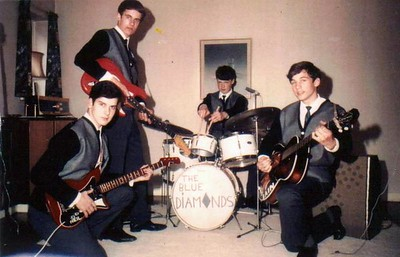 3 of 11  band nameThe Blue Diamonds   submitted by Neil Burman  who's in the picture Left to right: Neil Burman, bass; David Jackson, lead guitar; John Woolley, drums; Iain Eggeling, rhythm guitar and lead vocals.
