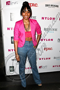 WEST HOLLYWOOD, CA - MAY 30:  Actress Chyna Layne arrives at the NYLON Magazine June/July music issue launch party at The Roxy Theatre on May 30, 2012 in West Hollywood, California.  (Photo by Chelsea Lauren/FilmMagic)