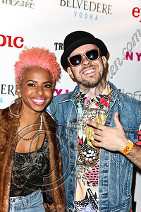 WEST HOLLYWOOD, CA - MAY 30:  Novena Carmel (L) and Ricky Reed of the music group Wallpaper arrive at the NYLON Magazine June/July music issue launch party at The Roxy Theatre on May 30, 2012 in West Hollywood, California.  (Photo by Chelsea Lauren/FilmMagic)