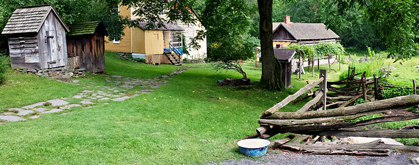 Panorama of homestead area at Quiet Valley Farm  - Stroudsburg, PA