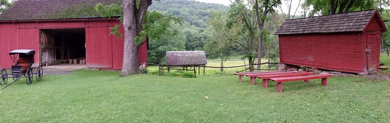 Panorama of Barn and Corncrib at Quiet Valley Farm  - Stroudsburg, PA