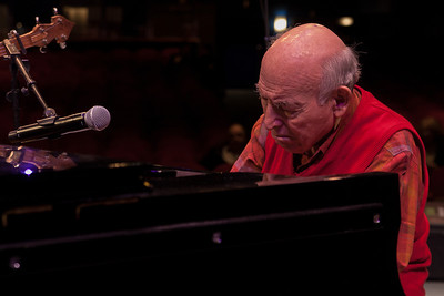 George Wein at his sound check, Symphony Space, NYC.