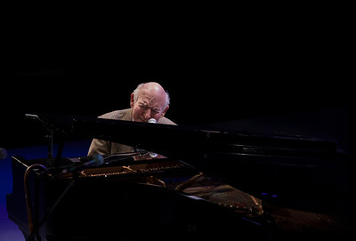 George Wein on the Steinway.
