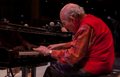 George Wein at sound check.